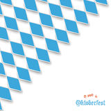 Bavarian National Colors Cover. Blue rhombus pieces on the white background royalty free stock images