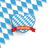 Bavarian National Colors Cover Heart Royalty Free Stock Photography