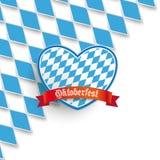 Bavarian National Colors Cover Heart vector illustration