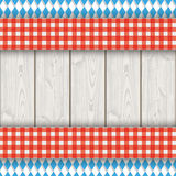 Bavarian National Colors Flyer Cloth Wood Stock Photo