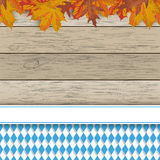 Bavarian National Colors Flyer Foliage Royalty Free Stock Photo