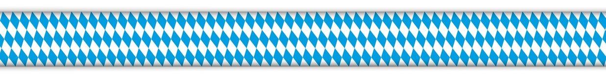 Bavarian National Colors Header Royalty Free Stock Photo