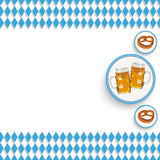 Bavarian National Colors White Centre Beer Pretzel Royalty Free Stock Image