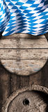 Bavarian national flag with beer barrels Royalty Free Stock Photo