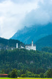 Bavarian Neuschwanstein Castle view Stock Image