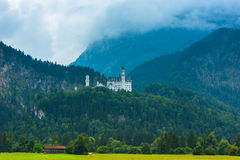 Bavarian Neuschwanstein Castle view Royalty Free Stock Photo