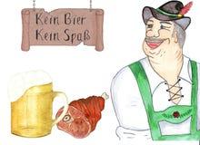 Bavarian no traje nacional oktoberfest ilustração royalty free