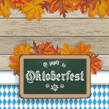 Bavarian Oktoberfest Blackboard Foliage Royalty Free Stock Photos