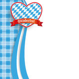 Bavarian Oktoberfest Checked Blanket Oblong Heart Stock Photos