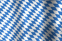 Bavarian Oktoberfest flag Stock Photography