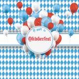 Bavarian Oktoberfest Flyer Banner Emblem Balloons Stock Image