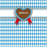 Bavarian Oktoberfest Flyer Banner Heart Stock Images