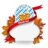 Bavarian Oktoberfest Flyer Emblem Beer Foliage Royalty Free Stock Photos