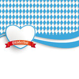 Bavarian Oktoberfest Flyer Heart Stock Photo