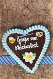 Bavarian Oktoberfest gingerbread heart Stock Images