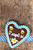 Bavarian Oktoberfest gingerbread heart stock image