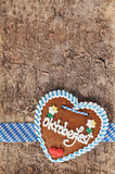 Bavarian Oktoberfest gingerbread heart Stock Images