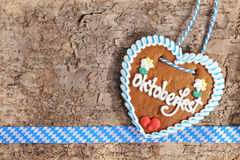 Bavarian Oktoberfest gingerbread heart Royalty Free Stock Image
