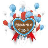Bavarian Oktoberfest Heart Edelweiss Balloons Royalty Free Stock Image