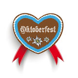 Bavarian Oktoberfest Heart Edelweiss Royalty Free Stock Photo