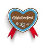 Bavarian Oktoberfest Heart Edelweiss royalty free illustration