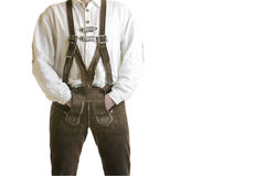 Bavarian Oktoberfest Leather Trousers (Lederhose) Stock Photo