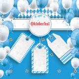 Bavarian Oktoberfest Price Stickers Banner Emblem Edelweiss. Oktoberfest design on the white background. German text O´zapft is and Oktoberfest, translate on Stock Photography
