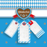 Bavarian Oktoberfest Price Stickers Heart Edelweiss. Oktoberfest design on the white background. German text Oktoberfest, translate Oktoberfest Royalty Free Stock Image