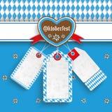 Bavarian Oktoberfest Price Stickers Heart Edelweiss Royalty Free Stock Image