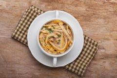 Pancake soup Stock Image