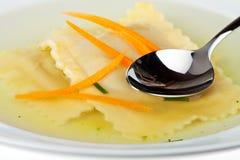 Bavarian pasta squares stock photography