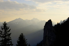 Bavarian peak. Peak in the Ammergebirge mountain range Royalty Free Stock Photography