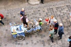 Bavarian pedicab Stock Photo