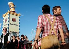 Bavarian people at the Oktoberfest Royalty Free Stock Image