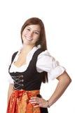 bavarian pięknego dirndl oktoberfest kobieta Obrazy Stock