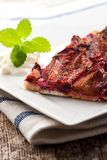 Bavarian plum cake Royalty Free Stock Images