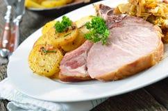 Bavarian pork spareribs Stock Photo