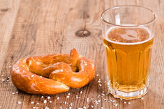 Bavarian pretzel. Stock Photo
