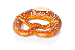 Bavarian pretzel isolated on white Stock Photo