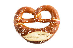 Bavarian Pretzel isolated on white Stock Photo