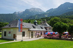 Bavarian restaurant by Konigssee Stock Photo