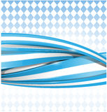 Bavarian ribbon flag Royalty Free Stock Images