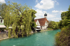 The Bavarian river Amper Royalty Free Stock Photo