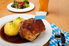 Bavarian roast pork Stock Photos
