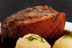 Bavarian roast pork Royalty Free Stock Photography