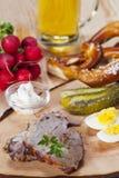 Bavarian roast pork Royalty Free Stock Photos