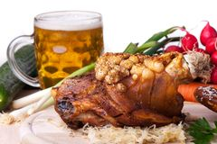 Bavarian roast pork Stock Images