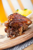 Bavarian roasted pork dish Royalty Free Stock Image