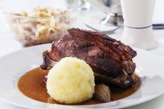 Bavarian roasted pork Royalty Free Stock Images