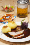 Bavarian roasted pork Royalty Free Stock Photo